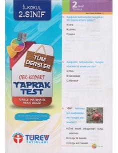 Türev Yayınları 2. Sınıf Tüm Dersler Çek-Kopart Yaprak Test
