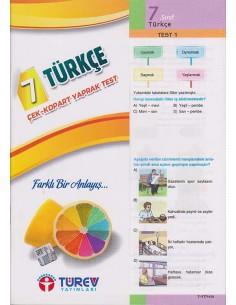 Türev Yayınları 7. Sınıf Türkçe Çek-Kopart Yaprak Test