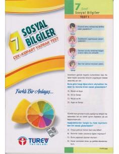 Türev Yayınları 7. Sınıf Sosyal Bilgiler Çek-Kopart Yaprak Test