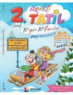 Dörtrenk Yayınları İlkokul 2.Sınıf Renkli Yarıyıl Tatil Kitabı