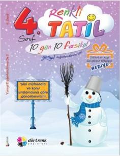 Dörtrenk Yayınları İlkokul 4.Sınıf Renkli Yarıyıl Tatil Kitabı