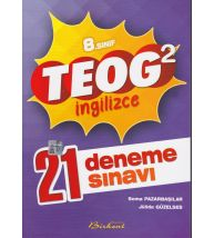 Birkent Teog 2 İngilizce 21 Deneme Sınav