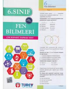 Türev Yayınları 6. Sınıf Fen Bilimleri Çek-Kopart Yaprak Test