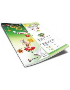 Dörtrenk Yayınları İlkokul 1.Sınıf Matematik Renkli Yaprak Test