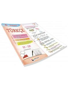 Dörtrenk Yayınları 5.Sınıf Türkçe Renkli Yaprak Test
