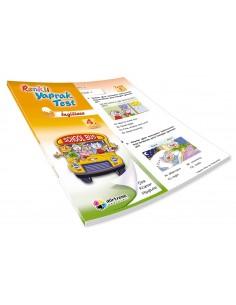 Dörtrenk Yayınları İlkokul 4.Sınıf İngilizce Renkli Yaprak Test