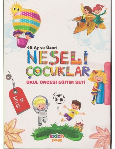 Erdem Yayınları Okul Öncesi Neşeli Çocuklar Eğitim Seti