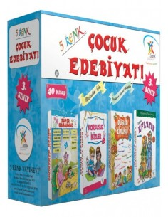 5 Renk Yayınları İlkokul 3.Sınıf Çocuk Edebiyatı Hikaye Seti ( 40 Kitap )