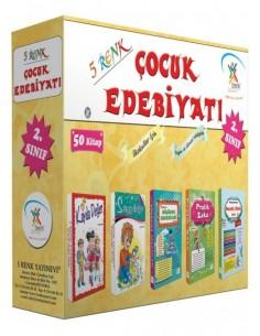 5 Renk Yayınları İlkokul 1. ve 2.Sınıf Çocuk Edebiyatı (50 Kitap)