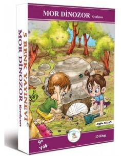 5 Renk Yayınları İlkokul 3. ve 4.Sınıf Mor Dinozor Kıvılcım Hikaye Seti