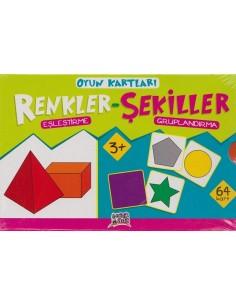 Erdem Yayınları Minik Ada Serisi Oyun Kartları Renkler-Şekiller