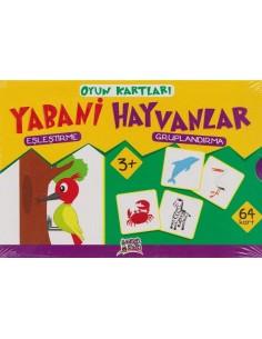 Erdem Yayınları Minik Ada Serisi Oyun Kartları Yabani Hayvanlar
