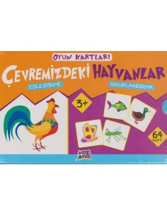 Erdem Yayınları Minik Ada Serisi Oyun Kartları Çevremizdeki Hayvanlar