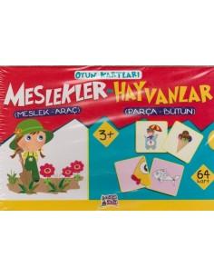 Erdem Yayınları Minik Ada Serisi Oyun Kartları Meslekler-Hayvanlar