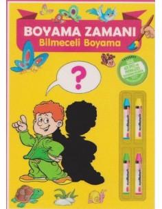 Parıltı Yayınları Okul Öncesi Boyama Zamanı(Bilmeceli Boyama)