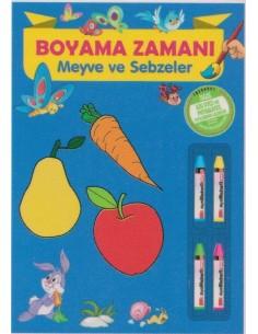 Parıltı Yayınları Okul Öncesi Boyama Zamanı(Meyveler ve Sebzeler)