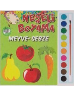 Parıltı Yayınları Okul Öncesi Neşeli Boyama(Meyve-Sebze)