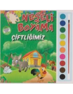 Parıltı Yayınları Okul Öncesi Neşeli Boyama(Çiftliğimiz)