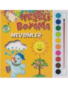 Parıltı Yayınları Okul Öncesi Neşeli Boyama(Mevsimler)