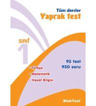 Bloktest Yayınları 1.Sınıf Tüm Dersler Yaprak Test