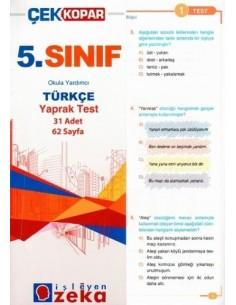 İşleyen Zeka Yayınları Ortaokul 5. Sınıf Türkçe Yaprak Test
