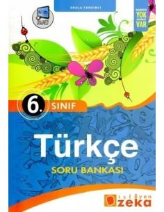 İşleyen Zeka Yayınları Ortaokul 6. Sınıf Türkçe Soru Bankası