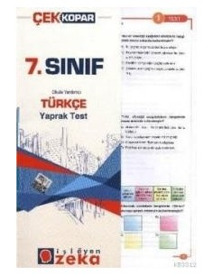 İşleyen Zeka Yayınları Ortaokul 7. Sınıf Türkçe Yaprak Test