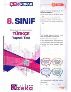 İşleyen Zeka Yayınları Ortaokul 8. Sınıf Türkçe Yaprak Test