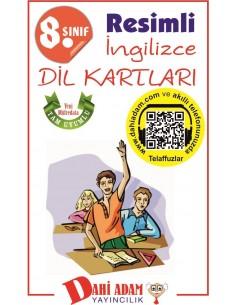 Dahi Adam Yayınları Ortaokul 8.Sınıf İngilizce Kelime Kartları