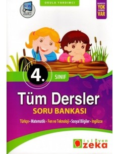 İşleyen Zeka Yayınları İlkokul 4. Sınıf Tüm Dersler Soru Bankası