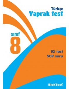 Bloktest Yayınları Ortaokul 8.Sınıf Türkçe Yaprak Test