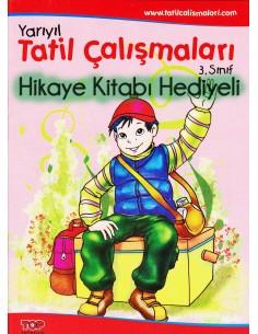 Top Yayıncılık 3.Sınıf Renkli Yarıyıl Tatil Kitabı (hediyeli)