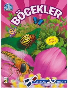 Damla Yayınları 3D Boyama Böcekler Kitabı