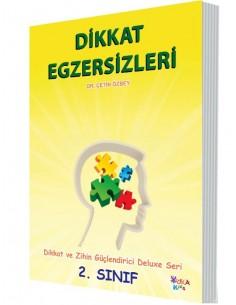 Yuka Kids Yayınları 2.Sınıf Dikkat Ve Zihin Güçlendirici Deluxe Seri Dikkat Egzersizleri