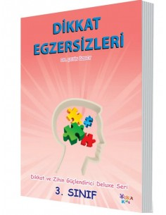 Yuka Kids Yayınları 3.Sınıf Dikkat Ve Zihin Güçlendirici Deluxe Seri Dikkat Egzersizleri
