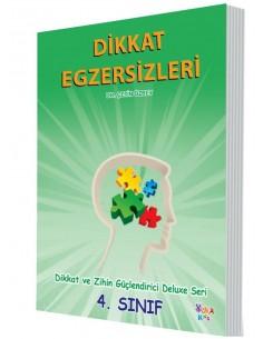 Yuka Kids Yayınları 4.Sınıf Dikkat Ve Zihin Güçlendirici Deluxe Seri Dikkat Egzersizleri