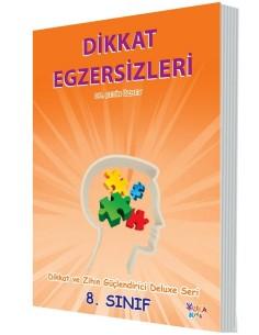 Yuka Kids Yayınları 8.Sınıf Dikkat Ve Zihin Güçlendirici Deluxe Seri Dikkat Egzersizleri
