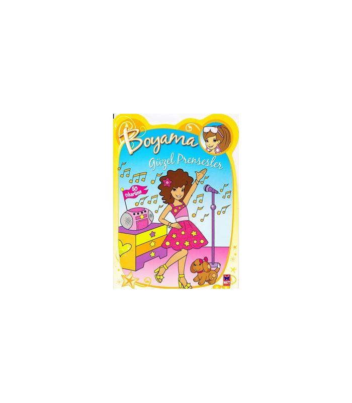 Net çocuk Güzel Prensesler Boyama Kitapları 3lü Set