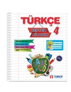 Türev Yayınları 4.Sınıf Türkçe Defter Kitabım