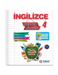 Türev Yayınları 4.Sınıf İngilizce Defter Kitabım
