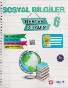 Türev Yayınları 6.Sınıf Sosyal Bilgiler Defter Kitabım