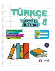 Türev Yayınları 6.Sınıf Türkçe Defter Kitabım