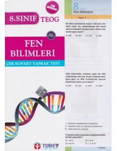 Türev Yayınları 8. Sınıf Fen ve Teknoloji Çek-Kopart Yaprak Test