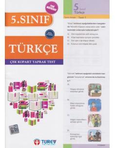 Türev Yayınları 5. Sınıf Türkçe Çek-Kopart Yaprak Test