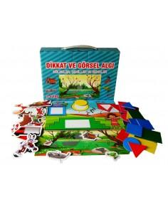 Yuka Kids 3 - 4 Yaş Dikkat ve Görsel Algı (Gölgeler - Şekiller ve Renkler)