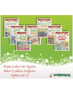 Elmas Cevher Nur Yayınları Bahar Çiçekleri Değerler Eğitimi Seti 1-2