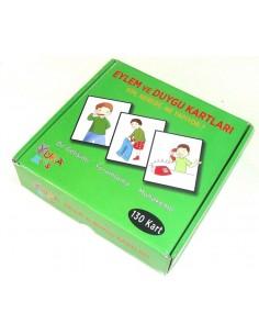 Yuka Kids Yayınları 2 Yaş Ve Üzeri Eylem ve Duygu Kartları