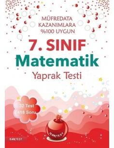 Nartest 7.Sınıf Matematik Yaprak Testi