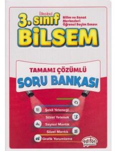 Editör Yayınları 3.Sınıf BİLSEM Çözümlü Soru Bankası (Büyük Boy)