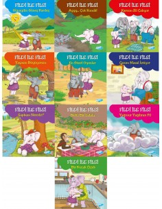 Yapa Yayınları 5+ Yaş Fildi ile Filsi Hikaye Seti (10 Kitap)
